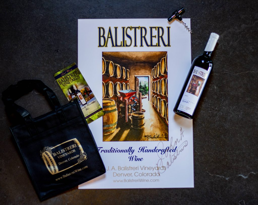 Wine club includes signed poster and tote bag