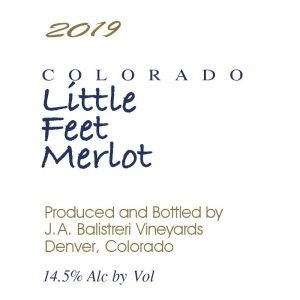 2019 Colorado Little Feet Merlot (Talbott | Harvest Party)