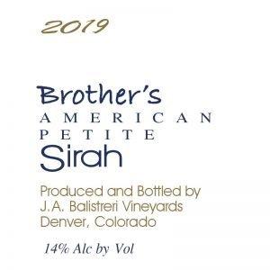 2019 Brother's Petite Sirah