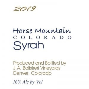 2019 Colorado Syrah | (Horse Mountain Vineyard)