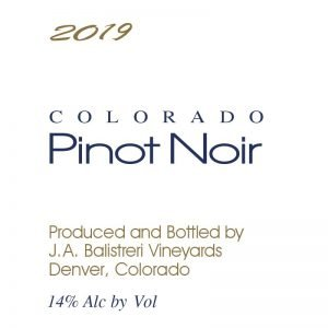 2019 Colorado Pinot Noir