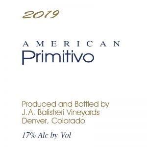 2019 American Primitivo