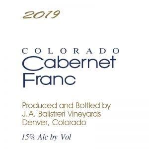 2019 Colorado Cabernet Franc | (Beach House Vineyard)