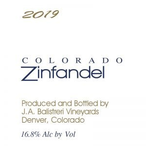 2019 Colorado Zinfandel | (Black Vineyard)