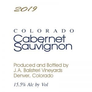 2019 Colorado Cabernet Sauvignon | (Whitewater Hill)