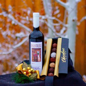 Indulge Box (Chocolate Truffle Set with Wine)